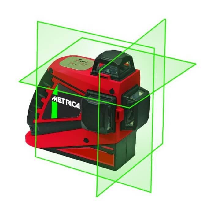 Nivel láser Metrica 3D PRO con haz verde - Referencia 61410