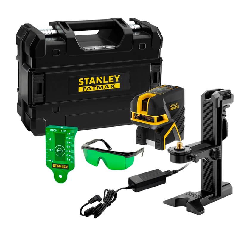 Nivel láser de cruz con dos puntos Stanley Fatmax con haz verde