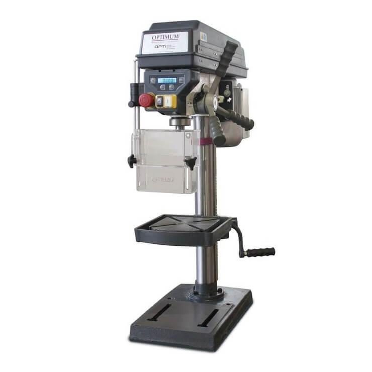 Taladro columna transmisión poleas Optimum D 17 Pro - Monofásico