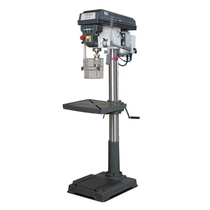 Taladro columna transmisión poleas Optimum D 33 Pro - Monofásico