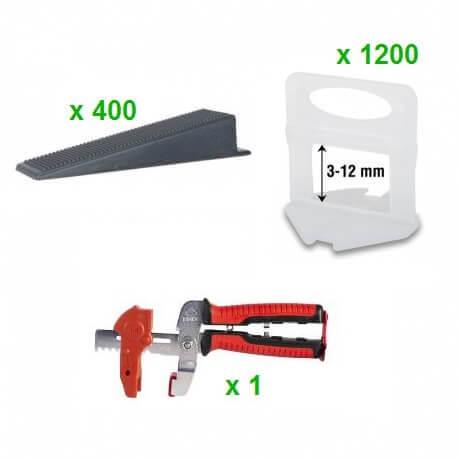 Pack Sistema Nivelación RUBI DELTA 1MM (1200 Bridas + 400 Cuñas + Tenaza)