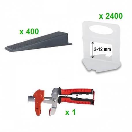 Pack Sistema Nivelación RUBI DELTA 1MM (2000 Bridas + 400 Cuñas + Tenaza)