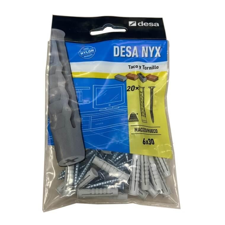 Kit tacos NYX 6x30mm + Tornillos madera (20 unidades) - Referencia QS301624