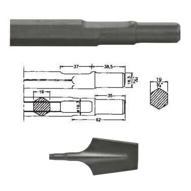 Pala inserción Bosch UBH 12/50 de 80x440mm - Referencia 00530