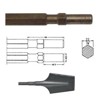 Pala Hilti TP800 / TE804 de 80x440mm