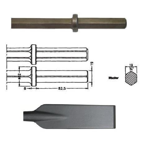 Pala larga inserción WACKER EHB 10/220 de 80x490mm