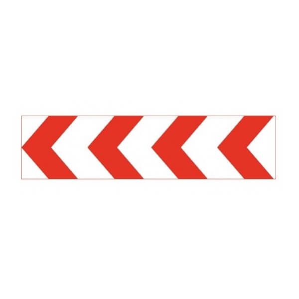 Panel direccional estrecho de señalización R/B TB-2 de 165x45cm Reflex 1