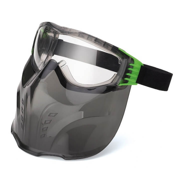 Pantalla Facial formada por Gafas X3 + Visor de policarbonato