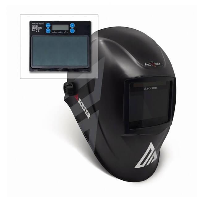 Pantalla de soldadura Solter HELLMET R-20 Di con regulación digital interior - Referencia 10170