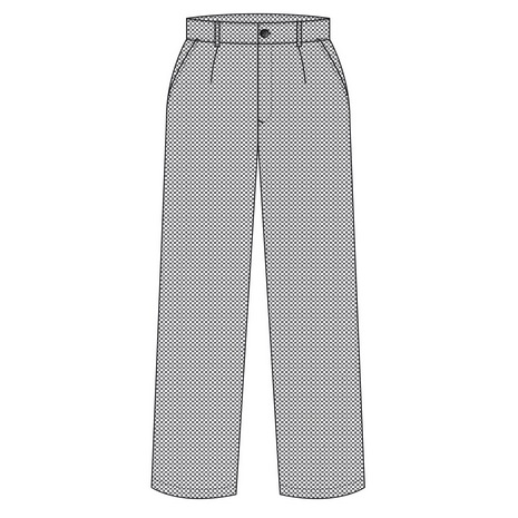 Pantalón cocina unisex cuadros blancos y negros