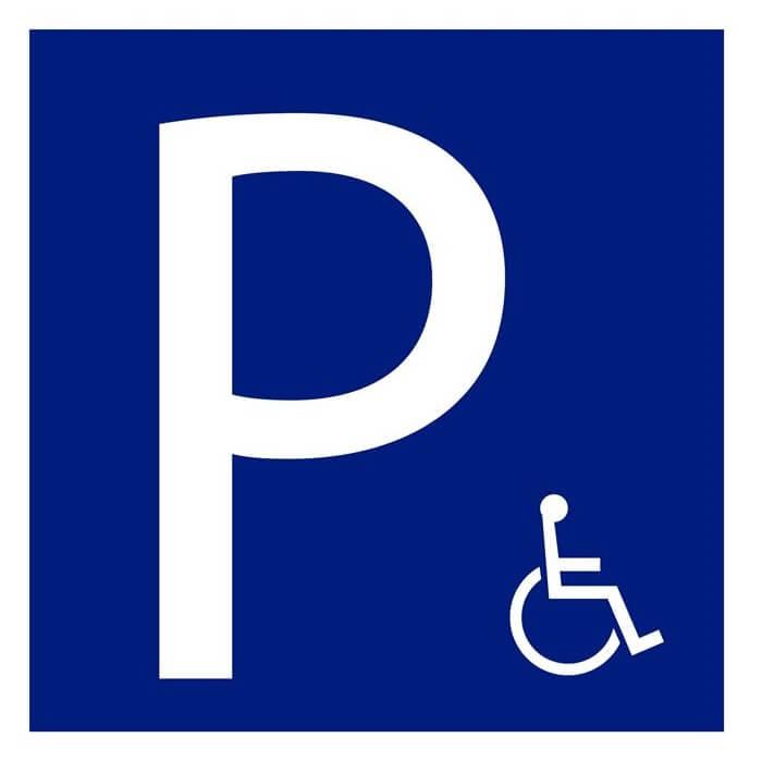 Señal de tráfico parking movilidad reducida