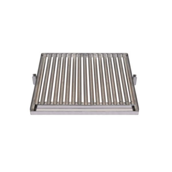Parrilla asadora INOX con recogegrasas Flores Cortés - 570x530mm    - Referencia 38918