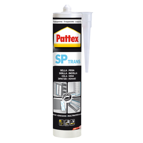Silicona Pattex SP101 TRANS Color Transparente (280 ml)