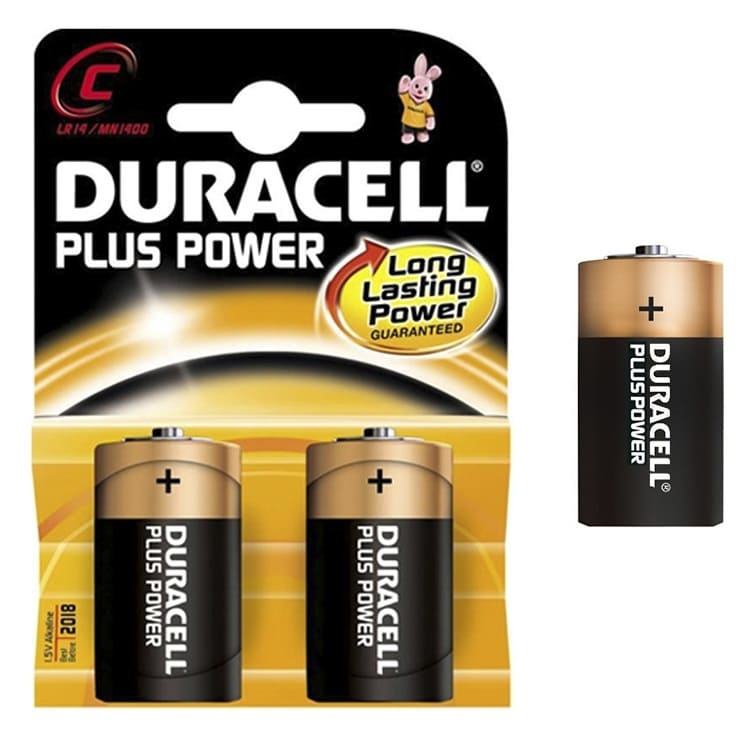 Pilas alcalinas DURACELL PLUS POWER LR14 - C