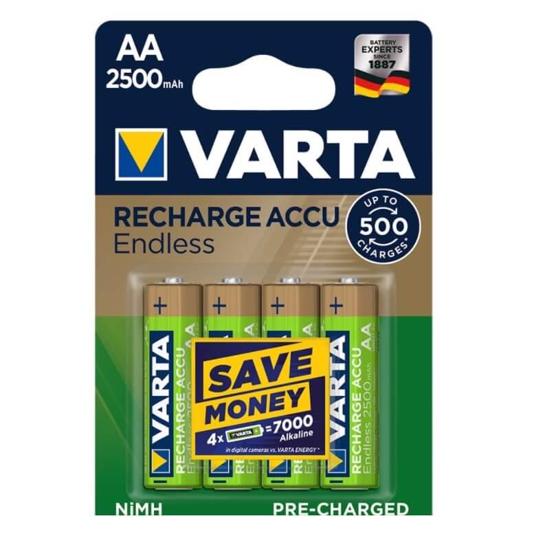 Pilas recargable VARTA ACCU ENDLESS - AA (Blister 4 unidades) - Referencia 38634