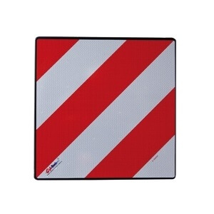 Placa Carga sobresaliente V-20 Homologada de 50x50cm