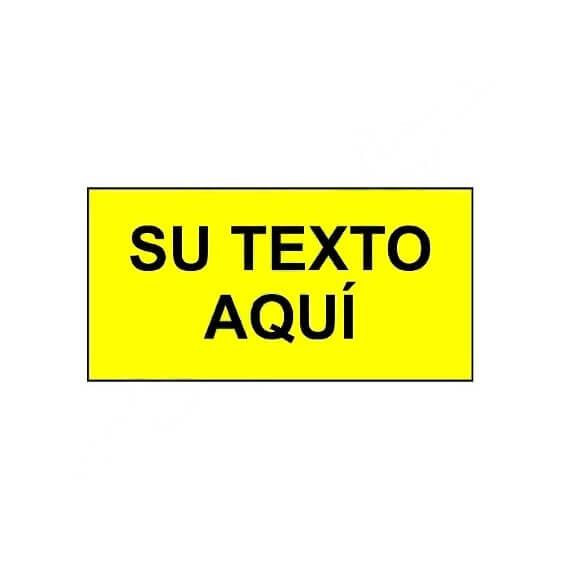 Placa económica informativa de 40x20cm fondo amarillo