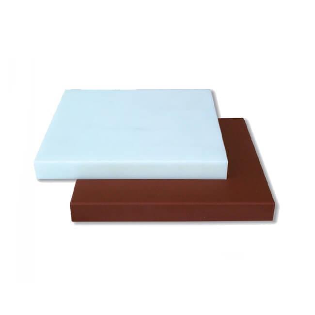 Plancha carnicera fibra Blanca Flores Cortés de 400x400x50mm
