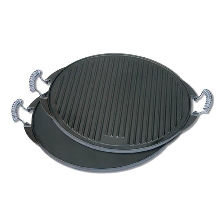 Plancha de hierro fundido lisa/ondulada Flores Cortés - 420mm - Referencia 33078