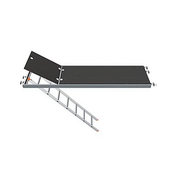 Plataforma de acceso aluminio FERMAR 2500x600mm con trampilla y escalera