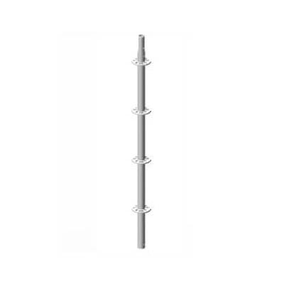 Poste vertical MULTI-FER galvanizado con roseta de 500mm - Referencia TE00420
