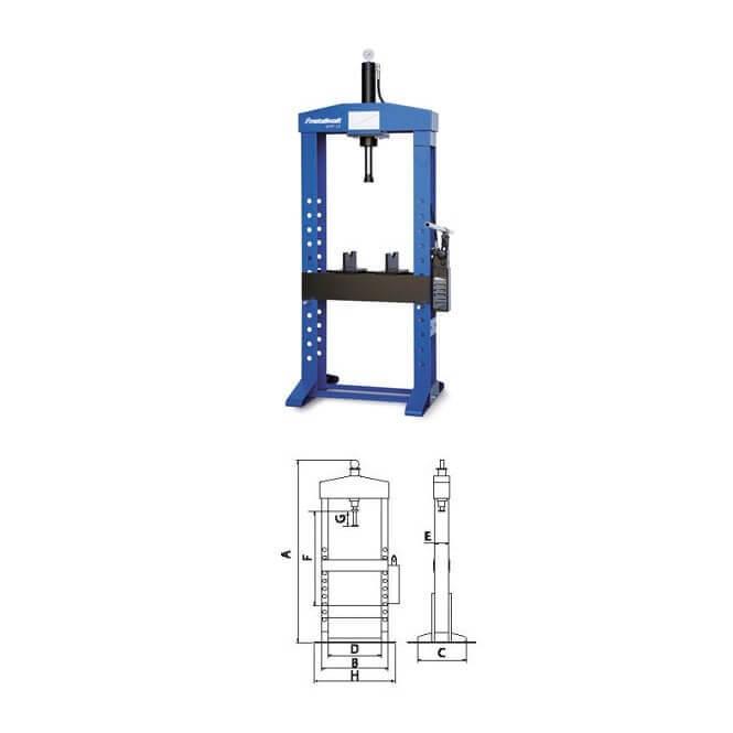 Prensa hidráulica con cilindro móvil Metallkraft WPP 15 de 15T