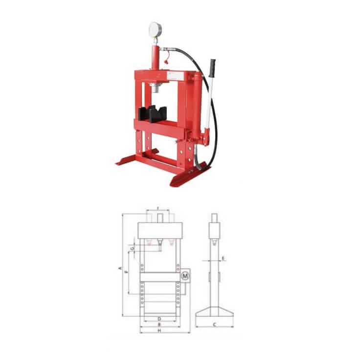 Prensa hidráulica con cilindro móvil Metalworks CAT83010TS de 10T