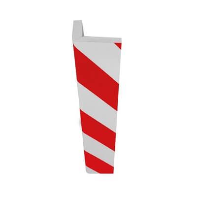 Protector esquinas de espuma de 750x150mm - Color blanco/rojo