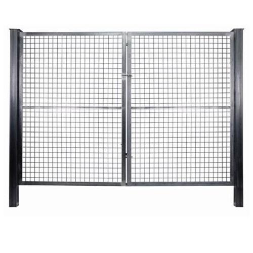 Puerta mallazo galvanizada de 2 hojas - 1'50 x 3'00 metros