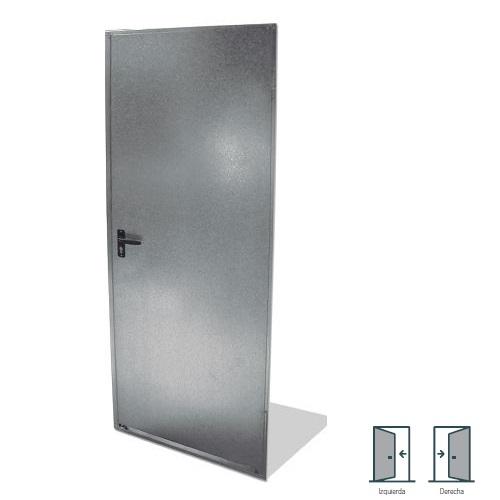 Puerta trastero galvanizada ciega - 79x200mm Izquierda