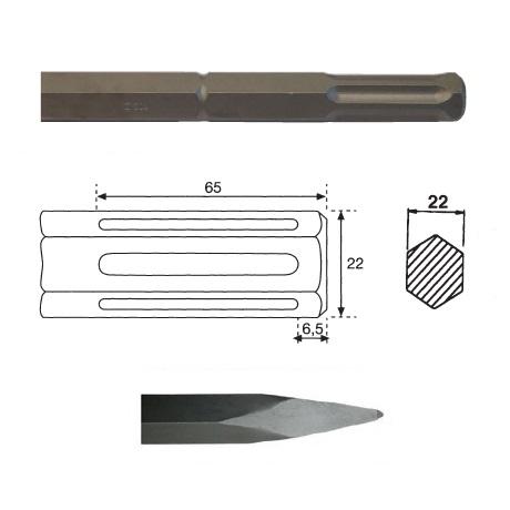 Puntero hexagonal inserción HILTI TE 805/TE 905/TE 1000 de 380mm