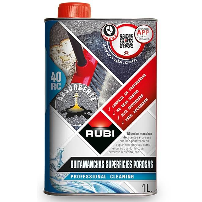 Quitamanchas Superficies Porosas Rubi RC-40 (1 Litro)