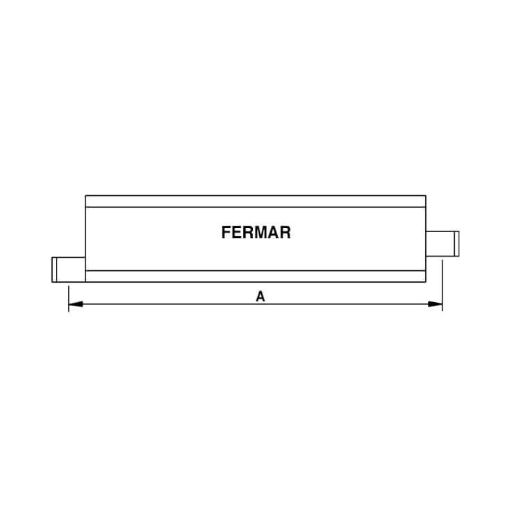 Rodapié FER-48 galvanizado de 700mm