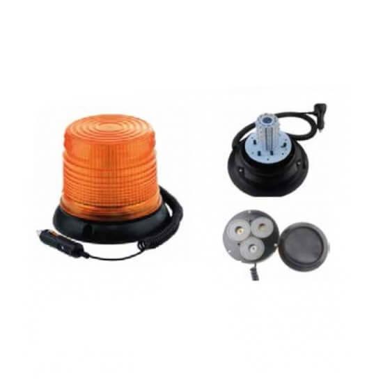 Rotativo LED 12V base magnética + ventosa