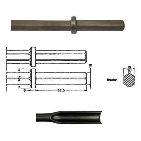 Rozador acanalador inserción WACKER EHB 10/220 de 300mm