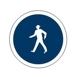 Señal de tráfico camino reservado para peatones Homologada 60cm
