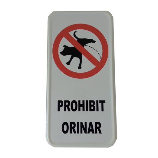 Señal de 'Prohibit Orinar'
