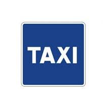 Señal de tráfico estacionamiento reservado para taxis Homologada 60x60cm