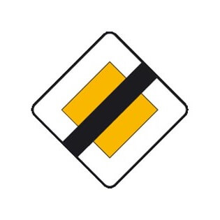 Señal de tráfico fin de prioridad Homologada 60x60cm
