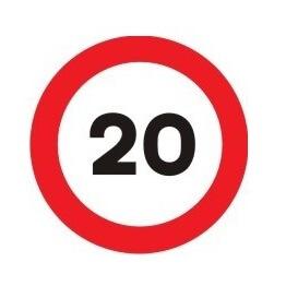 Señal de tráfico límite velocidad 20 Homologada 60cm