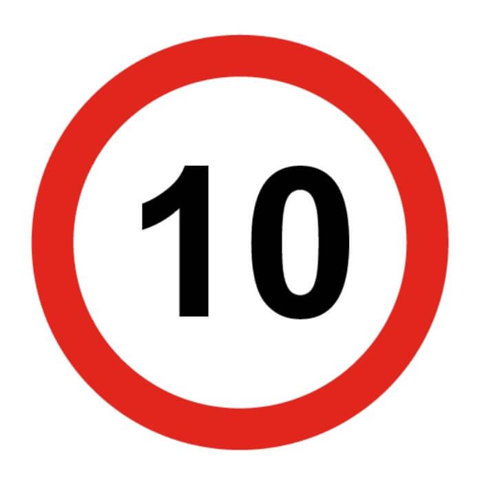 Señal de tráfico límite velocidad 10 Homologada 60cm