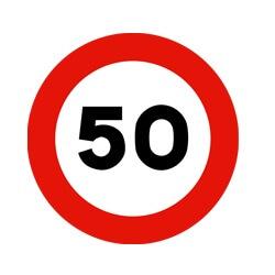 Señal de tráfico límite velocidad 50 Homologada 60cm