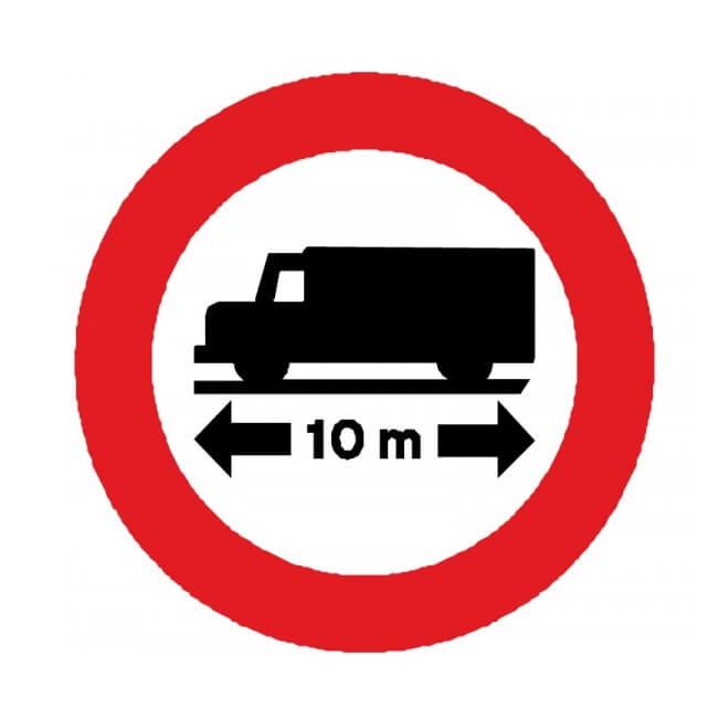 Señal de tráfico de longitud limitada Homologada 60cm
