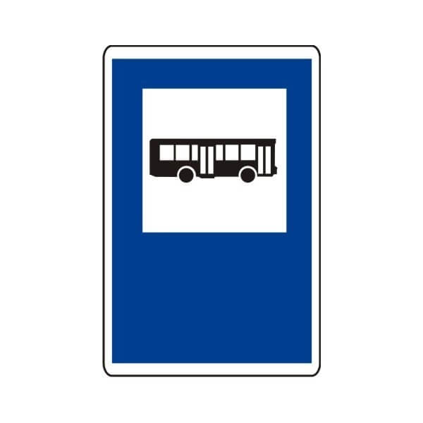 Señal de tráfico parada de autobuses Homologada 40X60cm