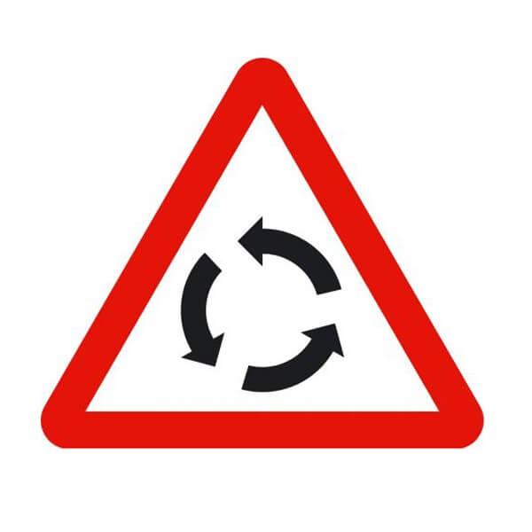 Señal de tráfico peligro intersección con circulación giratoria Homologada 70cm
