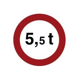 Señal de tráfico de peso limitado Homologada 60cm