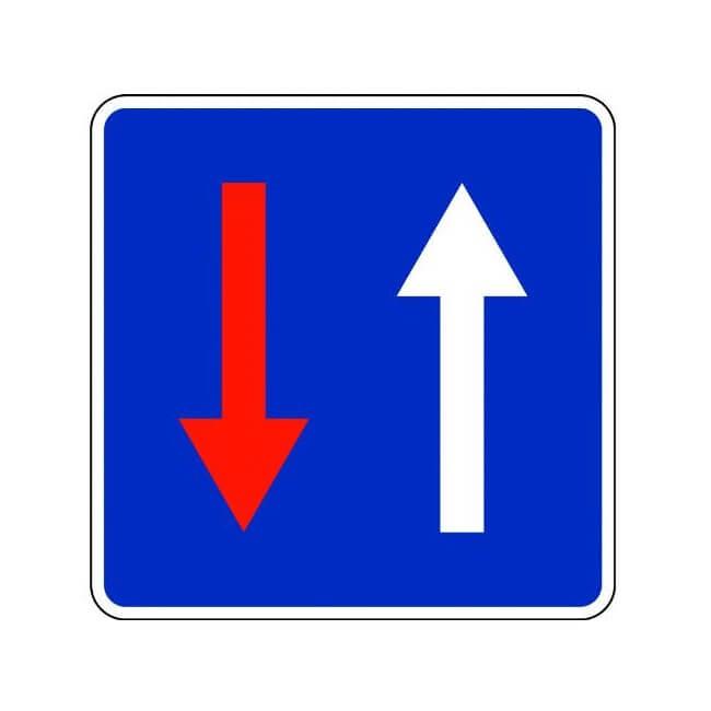 Señal de tráfico prioridad respecto al sentido contrario Homologada 60x60cm