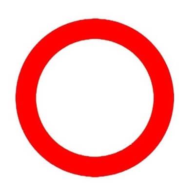 Señal de tráfico circulación prohibida