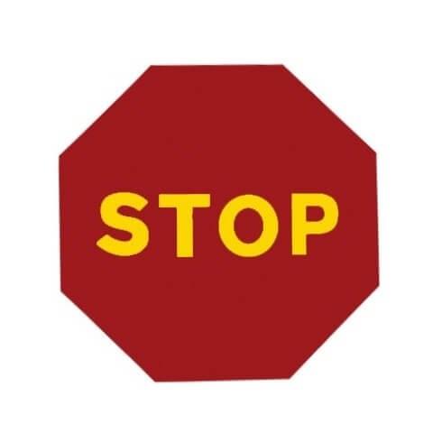 Señal de obra STOP - 50cm