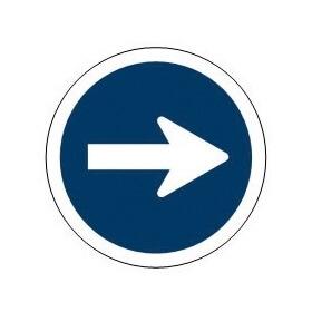 Señal de tráfico sentido obligatorio derecha